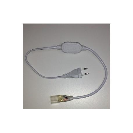 CONNECTEUR ELECTRIQUE POUR RUBAN LED 230V MONOCOULEUR  - Vendus par 2