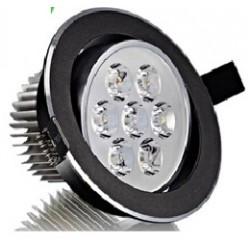 Spot encastrable 7 W NOIR - 230V - IP 44 Orientable