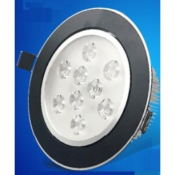 Spot encastrable 9 W NOIR  - 230V - IP 44 Orientable