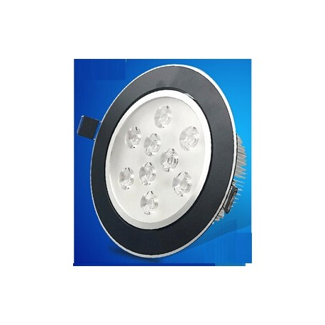 Spot encastrable 12 W NOIR - 230V - IP 44 Orientable