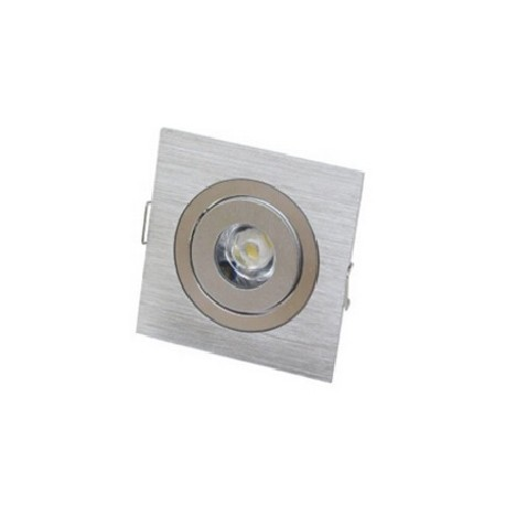 Spot encastrable 1 W MINI  230V - IP 44 Orientable - Carré