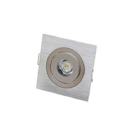 Spot encastrable 1 W MINI  230V - IP 44 Orientable - Carré