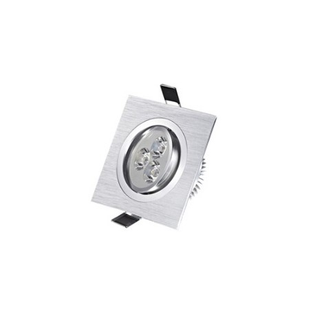 Spot encastrable 3 W Carré 230V - IP 44 Orientable