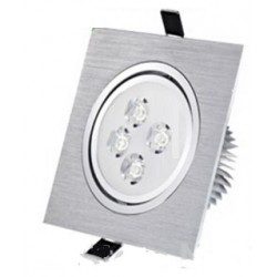 Spot encastrable 4 W Carré - 230V - IP 44 Orientable