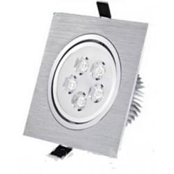Spot encastrable 5 W Carré - 230V - IP 44 Orientable