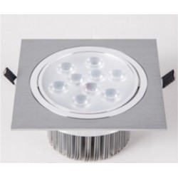 Spot encastrable 9 W Carré - IP 44 Orientable