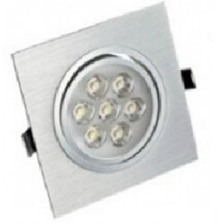 Spot encastrable 7 W carré - 230V - IP 44 Orientable