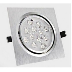 Spot encastrable 12 W Carré - 230V - IP 44 Orientable