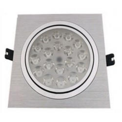 Spot encastrable 18 W Carré- 230V - IP 44 Orientable