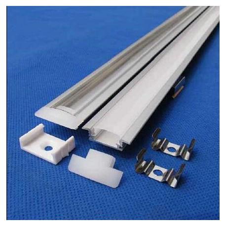PROFILÉ PLAT aluminum - 17.5*7 mm à encastrer