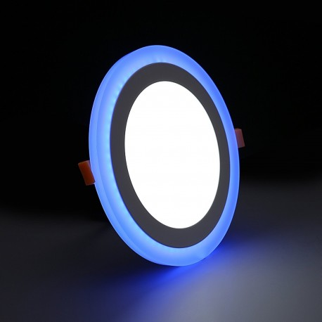 Spot LED 20W encastrable bicolore rond ultra-plat - 230V