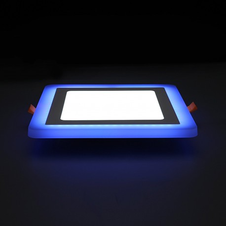 Spot LED 20W encastrable bicolore carré ultra-plat - 230V