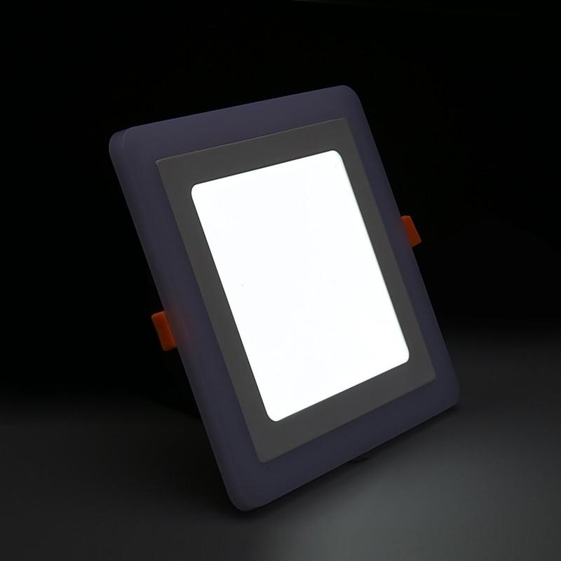 spot led 9w encastrable bicolore carr ultra plat. Black Bedroom Furniture Sets. Home Design Ideas