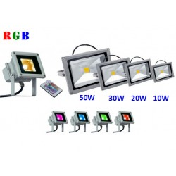 PROJECTEUR LED RGB - 10W 20W 30W 50W - IP65
