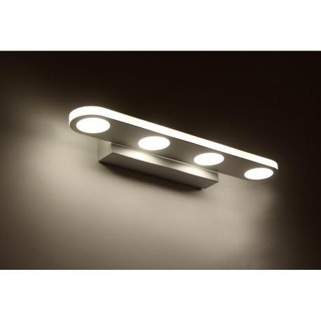 LUMINAIRE LED SALLE DE BAINS - 4 OU 6 TETES - Dessus miroir
