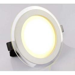 Spot LED 12W encastrable bicolore rond ultra-plat - 230V