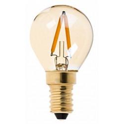 AMPOULE LED BOULE 1 W FILAMENT VERRE TEINTÉ E14- 2200K