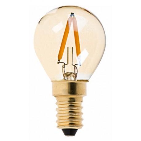 AMPOULE LED BOULE 1W FILAMENT VERRE TEINTÉ E14- 2200K