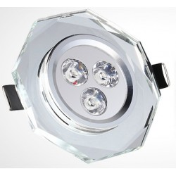 Spot encastrable 3 W CRYSTAL - 230V - EXTRAPLAT - TRANSPARENT