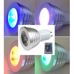 AMPOULE LED MR16 - 5 W - 12V RGB - Picots