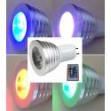 AMPOULE LED MR16 - 5 W - 12V RGB - Picots