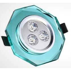 spot led 3w extraplat crystal. Black Bedroom Furniture Sets. Home Design Ideas