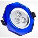 Spot encastrable 3 W CRYSTAL BLEU - 230V - EXTRAPLAT