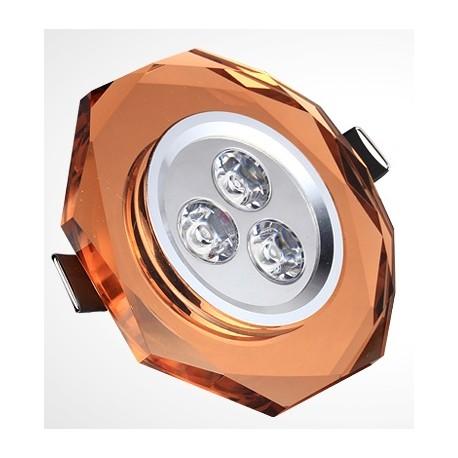Spot encastrable 3 W CRYSTAL - 230V - EXTRAPLAT - TRANSPARENT
