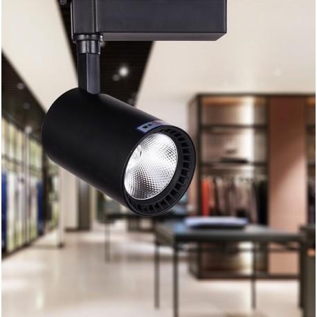 SPOT RAIL LED - 20 W - Noir