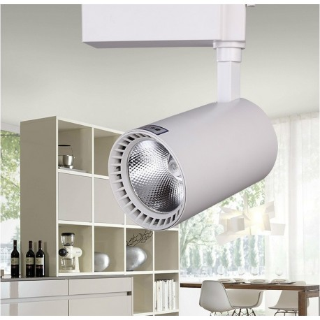 SPOT RAIL LED - 20 W - Blanc