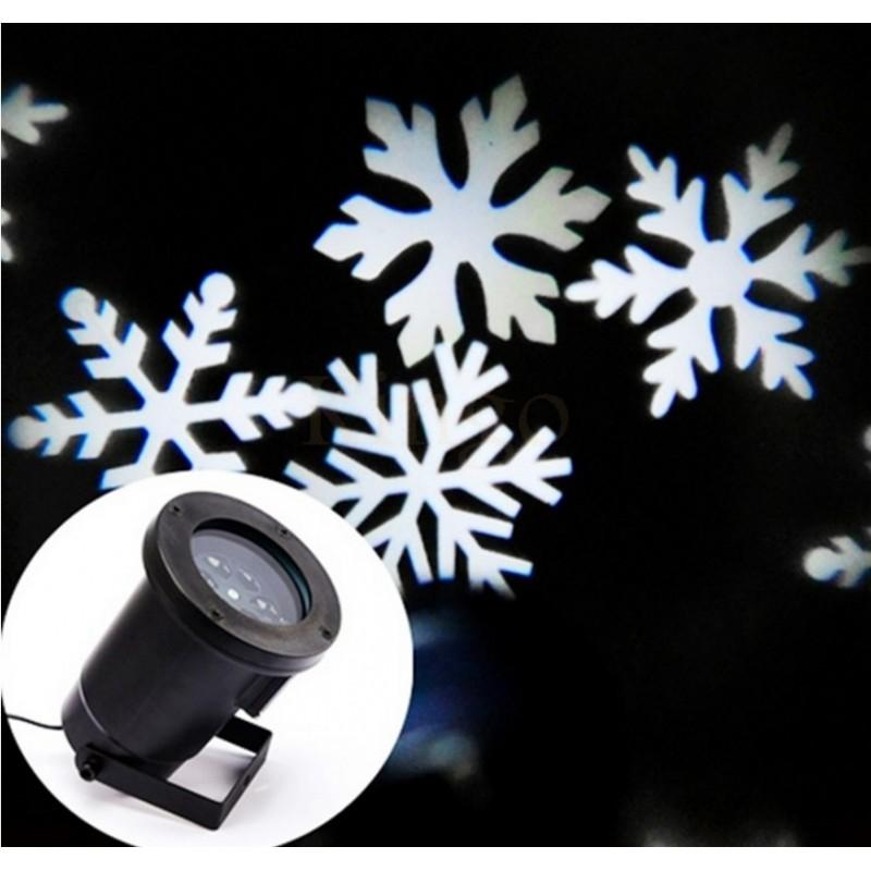 Spot flocons neige jardin noel for Spot led pour noel
