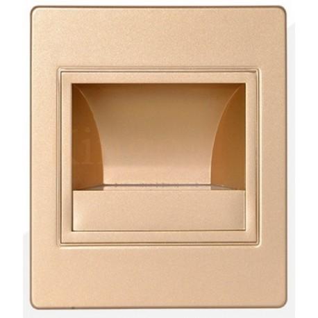 APPLIQUE MURALE LED ESCALIER 1,5 W GOLD - 150 Lumen -  à encastrer