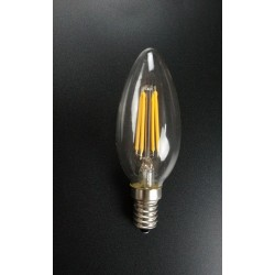 AMPOULE LED CHANDELLE E14  FILAMENTS - 4 W