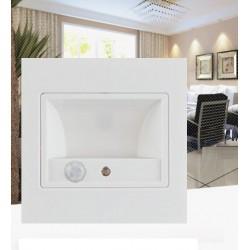 APPLIQUE MURALE LED SENSOR ESCALIER 1,5 W WHITE - 150 lumen -  à encastrer